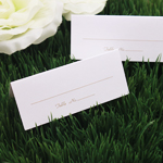 White Placecards with Gold Imprint - 50 pcs