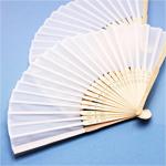 White Silk Hand Fans