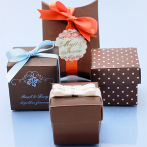 Brown Wedding Favor Boxes