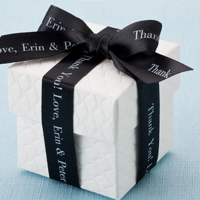 White Wedding Favor Boxes