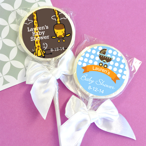 baby shower personalized lollipop favor boy baby shower favors