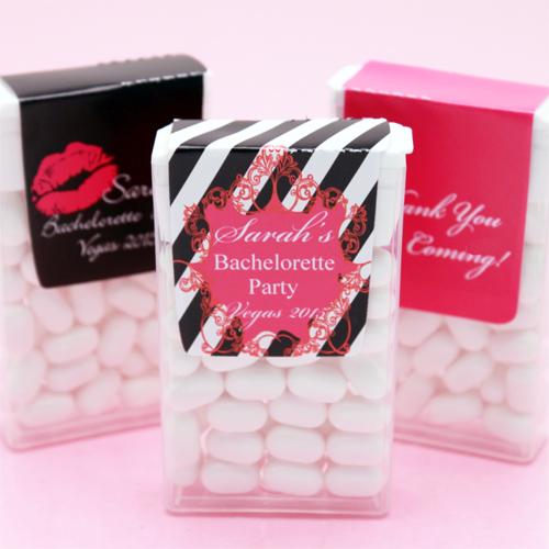 Wedding Favor Boxes Trinidad : Bachelorette personalized tic tacs favors