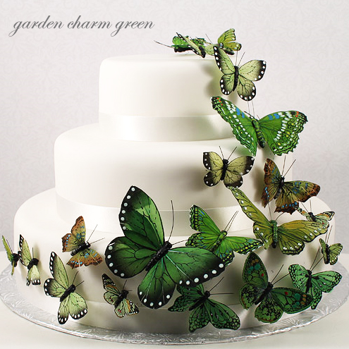 Cake Decorated With Flowers And Butterflies : Beautiful Butterfly Cake Decorating Set - 24 pcs ...