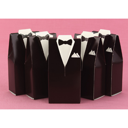 Brown Tuxedo Favor Boxes