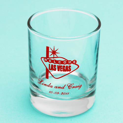 Las Vegas Shot Glass Favor or Votive Holder