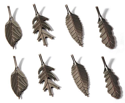 Metal Leaf Shaped Card Holders