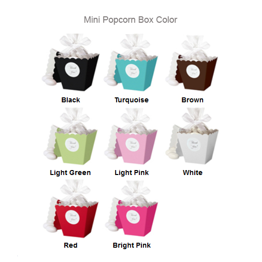 Mini Popcorn Box Color