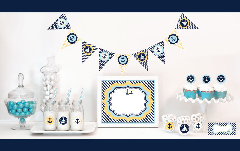 baby shower favors and supplies baby shower decorations nautical