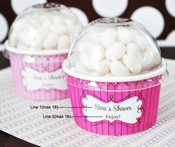 Personalized Candy Cupcake Favors Cupcake Wedding And Party Favors Weddin