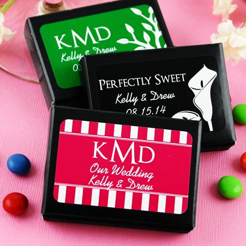 "Personalized Chocolate ""Dots"" Black Box - Silhouette"