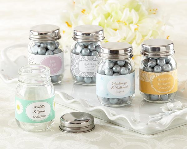 Personalized Glass Mason Jar (Wedding)