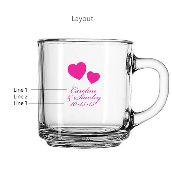 Personalized Wedding Favor Coffee Mugs : ... Coffee Theme Wedding Favors :: Personalized 10 oz Clear Glass Mug