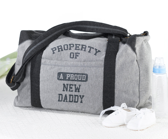 property of daddy diaper bag baby shower gifts baby shower favors and supplies other. Black Bedroom Furniture Sets. Home Design Ideas