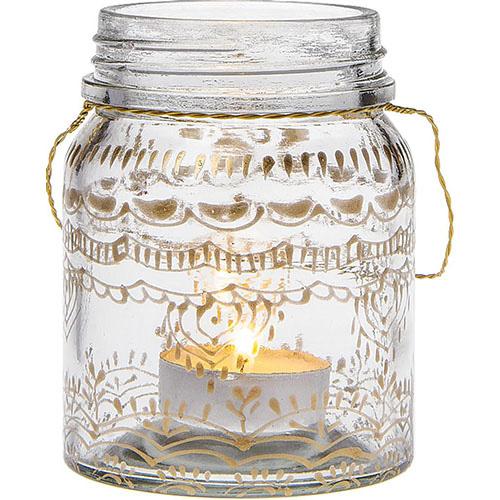 Small Clear Mehndi Mason Jar
