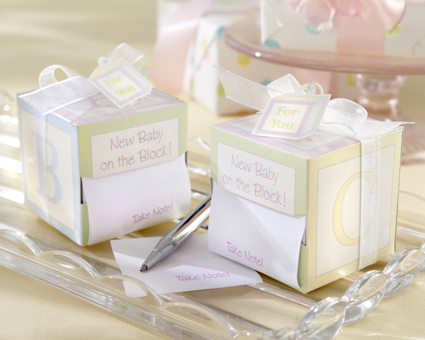 """Take Note! New Baby On the Block!"" Sticky Notes"