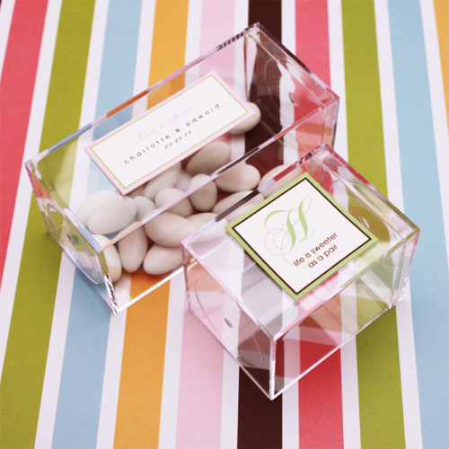 Medium Clear Favor Boxes : Crystal clear favor box pcs boxes