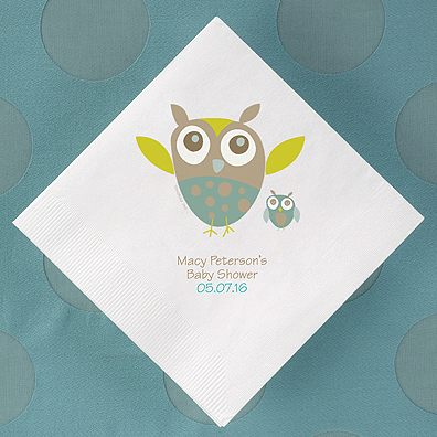 Baby Owl Personalized Napkins 50 Pcs Personalized Baby