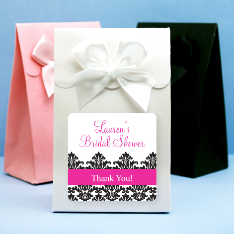 Bridal shower personalized candy bag favor bridal shower for Personalized wedding shower favors