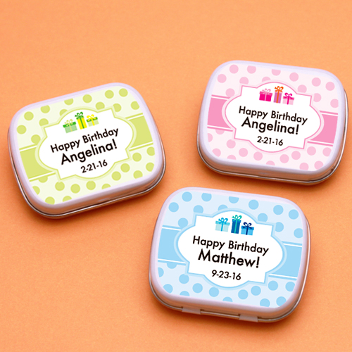 Birthday Gifts Personalized Mint Tins
