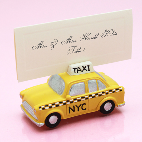 New York Taxi Place Card Holder New York Wedding Favors