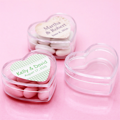 Personalized Heart Clear Boxes