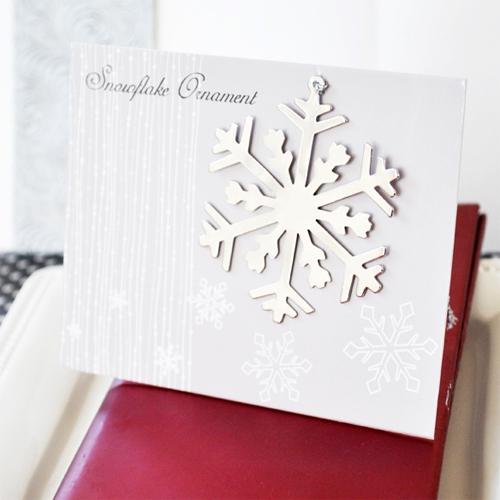 silver snowflake ornament holiday theme wedding favors