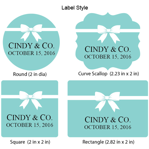 Tiffany Blue Personalized Labels