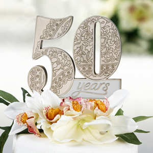 50th anniversary cake topper wedding cake toppers wedding essentials wedding favors. Black Bedroom Furniture Sets. Home Design Ideas