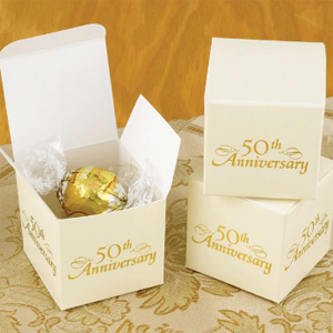 50th Anniversary Favor Boxes 25 Pcs 25th Amp 50th Anniversary Favors Anniversary Favors And