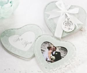 Heart Shaped Glass Coaster Favor