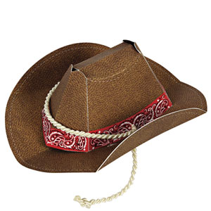 Howdy Cowboy Party Hat - 8 pcs