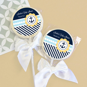 baby shower favors nautical baby shower personalized lollipop