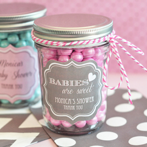 baby mini mason jars personalized baby shower favors baby shower