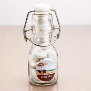 Personalized Elite Design Mini Glass Bottles