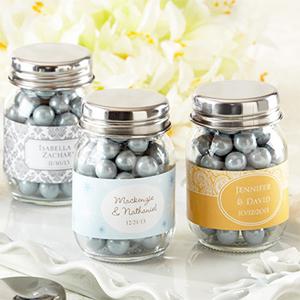Personalized Glass Mason Jar (Wedding) - Set of 12