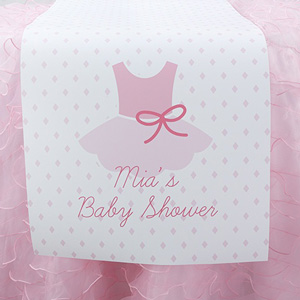 :: baby  Shower table Runner  Supplies shower runners Baby  Favors Table and Personalized Tutu