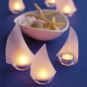 Sailboat tealight holders 6 pcs beach theme wedding favors wedding favor themes wedding - Sailboat tealight holders ...