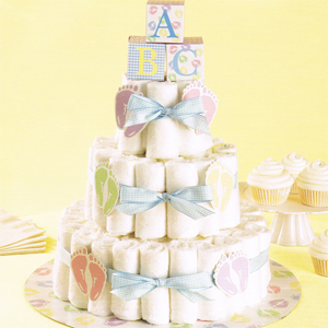 Diaper Cake Decorating Kit : Baby Diaper Cake Kit - Baby Shower Decorations - Baby Shower Favors and Supplies - Other ...