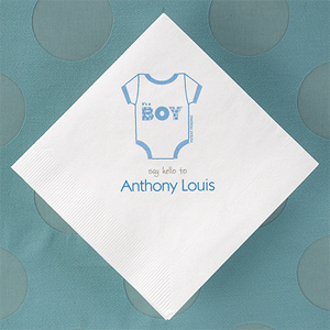 Onesie Personalized Napkins - 50 pcs