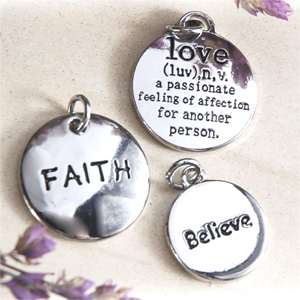Faith, Love and  Believe Favor Charms