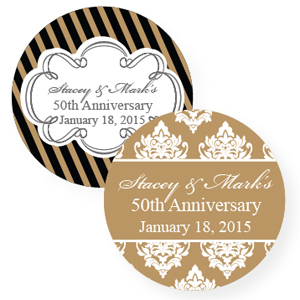 50th Wedding Anniversary Gift Tags : ... 50th Anniversary Favors :: Golden Wedding Anniversary Personalized