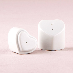 Heart Shaped Salt and Pepper Shaker - 12 pcs