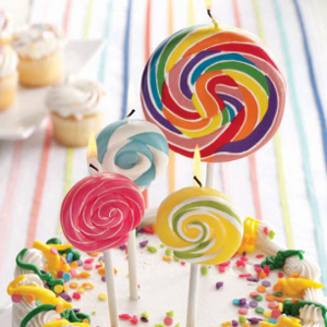 Lollipop Candle Favor