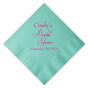 Personalized Bridal Shower Napkins 25 Pieces