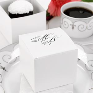 Personalized White Wedding Cake Boxes 50 Pcs White Wedding Favor Boxes F