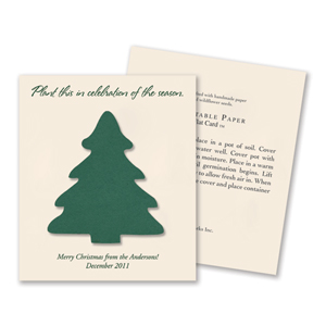 Plantable Christmas Tree Flat Card Favor