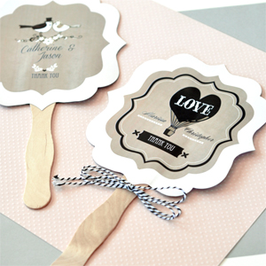 Personalized Vintage Wedding Paddle Fans Palm And Bamboo Hand Fans Weddin