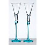 Aqua Toasting Glasses
