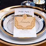 Art Deco Laser Embossed Place Cards - Set of 20
