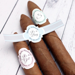 Vintage Design Personalized Cigar Band Labels - 16 pieces